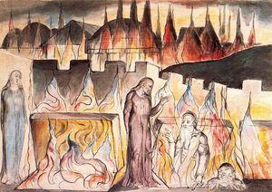 Dante conversando con Farinata Degli Uberti