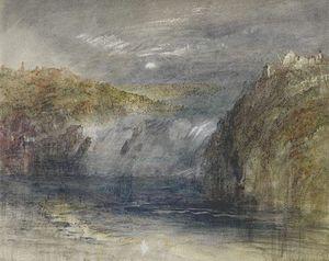 Falls of the Rhine at Schaffhausen, Moonlight