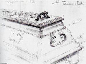 Field Marshal von Kalckstein's coffin in the crypt of the Berlin garrison church