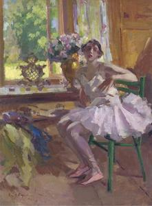 A ballerina at her toilette