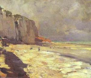 Beach at Dieppe. Study