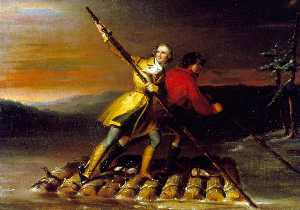 GEORGE WASHINGTON AND CHRISTOPHER GIST ON THE ALLEGHENY RIVER