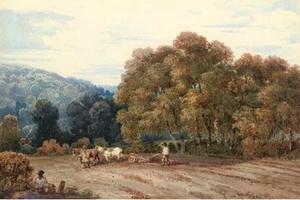 A Horsedrawn Plough In An Extensive Landscape