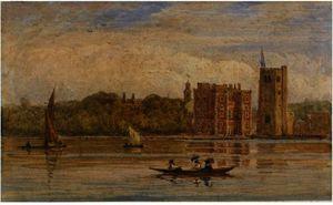 Boating Before Lambeth Palace, London