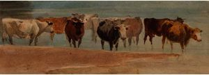Крупный рогатый скот в     Ручей