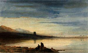Dolbadern Tower, Llanberis Lake, North Wales