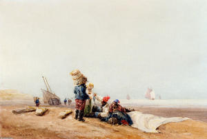 Fisherfolk On The Shore