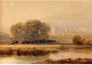 Horsemen Approaching Windsor Castle