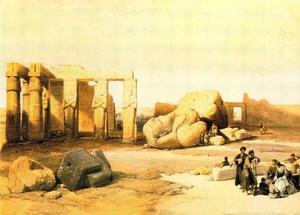 Fragmentos De Los Grandes Colosos De Memnonium, Tebas