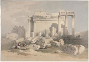 Ruins Of The Eastern Portico Of The Temple Of Baalbec