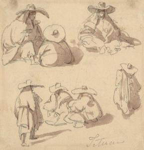 Sketches Of Seated Moorish Women
