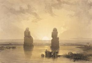 Statues Of Memnon At Thebes, During The Inundation