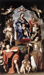 Madonna and Child with St Petronius and St John the Baptist
