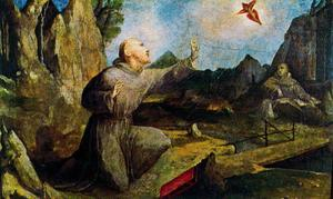 St . Francis recevant les stigmates