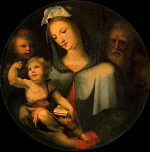 The Holy Family with the child St. John