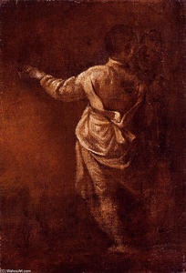 Study Of A Young Boy, Seen From Behind