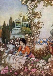 The Rubaiyat. Blowing Rose