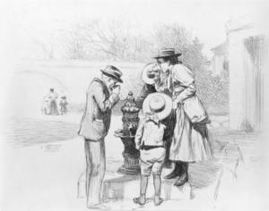 Figures at a Fountain