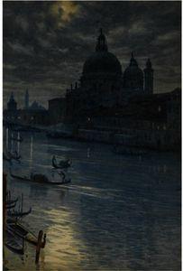 A Moonlight Scene, Venice