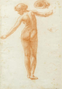 Study Of A Female Nude For 'the Queen Of Sheba's Visit To King Solomon'