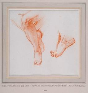 Study Of Two Pairs Of Feet For The Fortune Teller