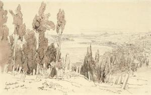 View Of The Turkish Cemetery, Ayoub, Constantinople