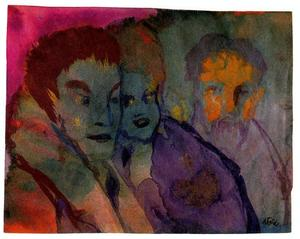 Couple and Beraded Older Man