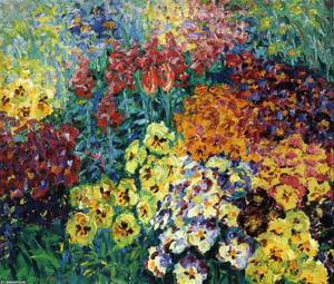 Flower Garden. Pansies