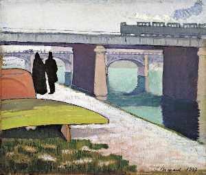 Iron Bridges at Asnières