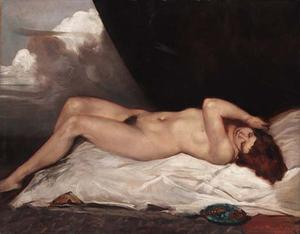 Nude with a plate of cherries