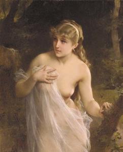Femme nu dans la Forêt