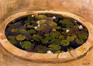 Study for The mysterious Water. The lily pond