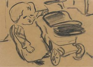 Child with baby carriage