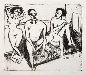 Three naked niggers