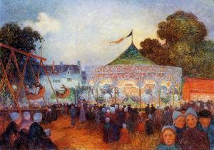 Carousel at Night at the Fair