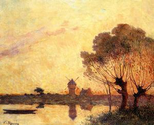 Sunset over La Briere