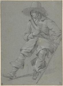 Seated Cavalier with Glass