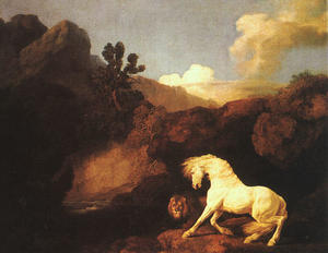 A Horse Frightened by a Lion