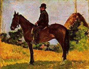 Diego Martelli on horseback