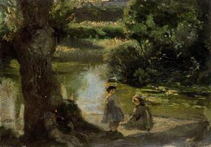 Children near the river