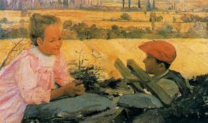 Children on the plains