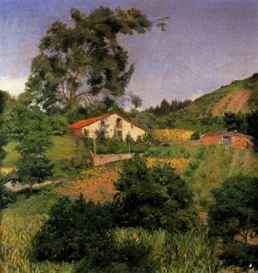 Landscape with farmhouse 1