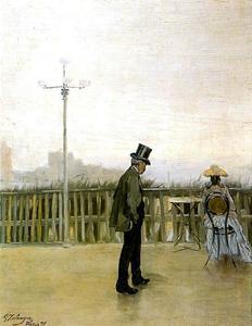 Mi padre y mi hermana en París