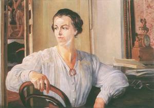 Portrait of Artist's Daughter Julia Meyzner