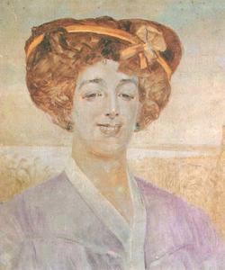 Porträt von Michalina Wierusz Kowalska-Grabowska