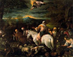 Departure of Abraham and his family and livestock to the land of Canaan