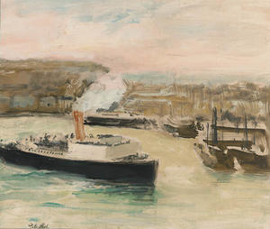 Arrival of the Pacquet Boat, Dieppe