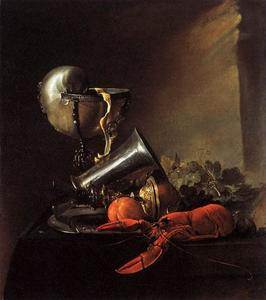 Still-Life with Lobster and Nautilus Cup