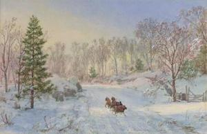 Evening Sleigh Ride, Ravensdale Road, Hastings-on-Hudson, New York