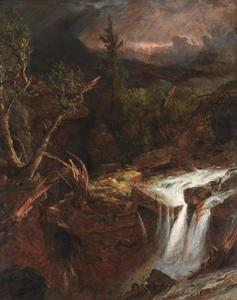 The Clove - A Storm Scene in the Catskill Mountains